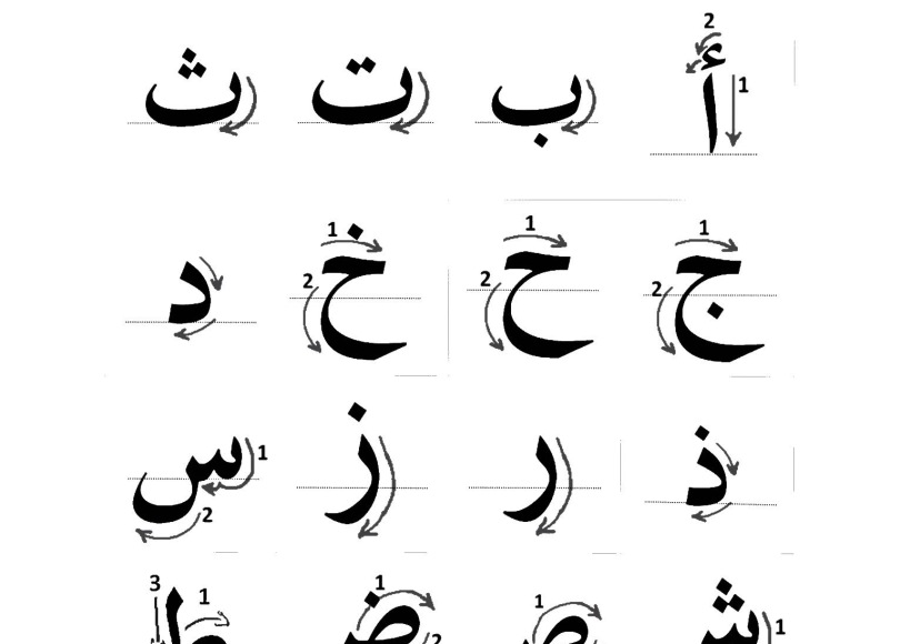 read and write arabic letters lesson 04 cobra